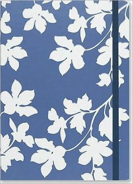 Floral Silhouette Journal Blue/White 5x7