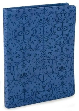Blue Filigree Embossed Lined Bound Journal 6-1/4