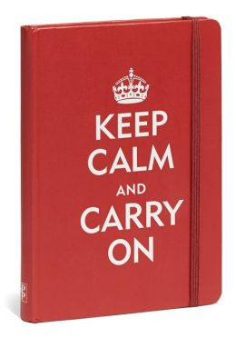Red Keep Calm and Carry On Bound Lined Journal (5
