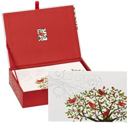 Festive Birds Christmas Boxed Card