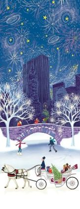 City Sleigh Ride Christmas Boxed Card