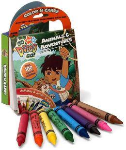 Go Diego Go!: Animal & Adventures Color-N-Carry