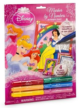 Disney Princess Marker by Numbers