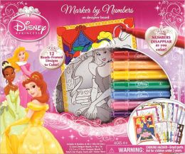 Disney Princess Marker By Number Boxed Kit