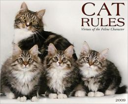 2009 Cat Rules Wall Calendar