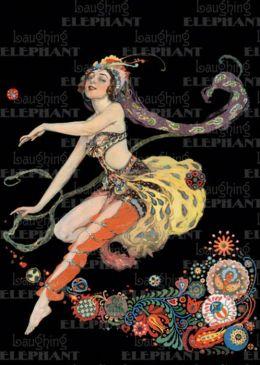 Dancing Woman C. 1910's Celebration Greeting Card
