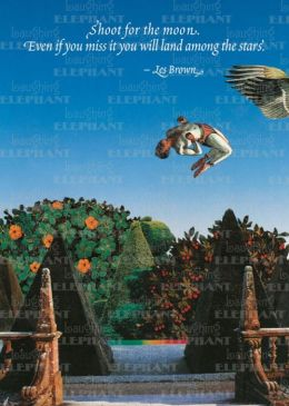 Acrobat in Formal Garden- Greeting Card