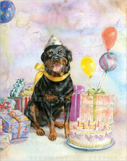 Good Dog Carl W/ Cake - Greeting Card