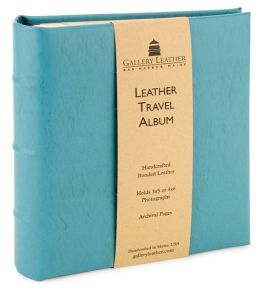 Turquoise Leather Travel Photo Album