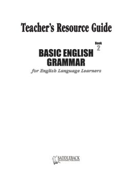 Basic English Grammar Book 2 Teacher's Resource Guide