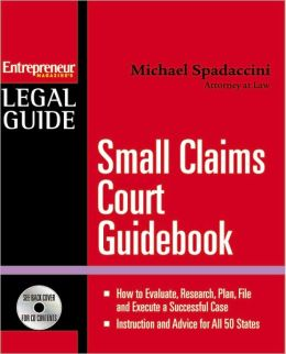 Small Claims Court Guidebook with CD-ROM