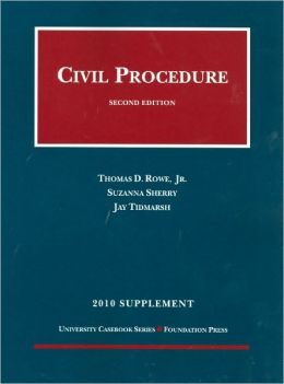 Civil Procedure, 2010 Supplement
