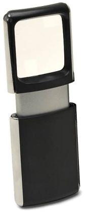 Black & Silver Pocket LED Slide Magnifier