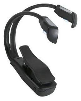 TwinLight 2-Headed Black LED Booklight