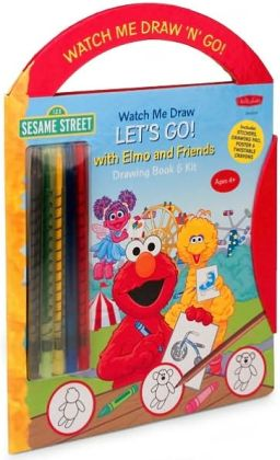 Watch Me Draw 'n' Go: Sesame Street's Let's Go! With Elmo and Friends Drawing Book & Kit
