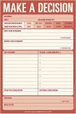 Product Image. Title: Make a Decision Large List Pad 60 Sheets