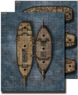 GameMastery Flip-Mat: Pirate Ship