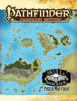Pathfinder Campaign Setting: Skull and Shackles Poster Map Folio