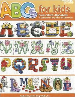 ABC's for Kids Cross Stitch Alphabets (Leisure Arts #4081)