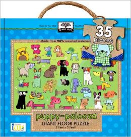 Green Start Giant Floor Puzzle: Puppy-Palooza
