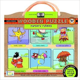 Green Start Wooden Puzzles: Nursery Rhymes - Earth Friend Puzzles with Handy Carry and Storage Case