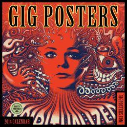 2014 Gig Posters Wall Calendar