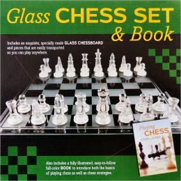 Glass Chess Set & Book