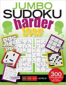Jumbo Sudoku Harder Than Ever