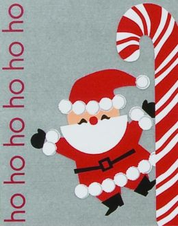 HO HO HO SANTA CHRISTMAS BOXED CARD