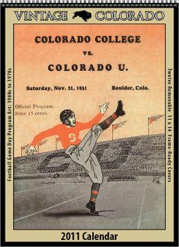 2011 Colorado Buffaloes Vintage Football Wall Calendar