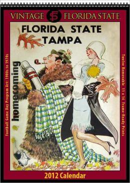 2012 Florida State Seminoles Vintage Football Wall Calendar