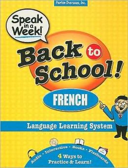 Speak in a Week! Back to School! French [With CDROM and Flash Cards and 2 Paperbacks]