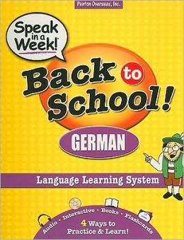 Speak in a Week! Back to School! German [With CDROM and Flash Cards and 2 Paperbacks]