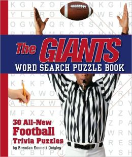The Giants Word Search Book: 30 All New Football Trivia Puzzles