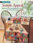 Book Cover Image. Title: Simple Appeal:  14 Patchwork and Applique' Projects for Everyday Living, Author: Kim Diehl
