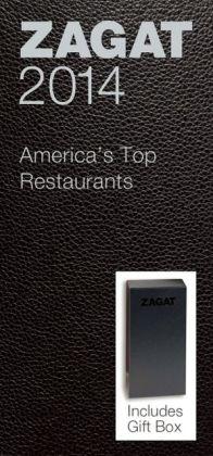 Zagat America's Top Restaurants Black Leather Gift Box 2014