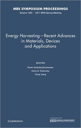 Energy Harvesting - Recent Advances in Materials, Devices and Applications, Volume 1325