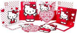Hello Kitty Valentines Note Card Portfolio Set of 8