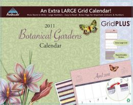 2011 Botanical Garden Grid Plus Wall Calendar