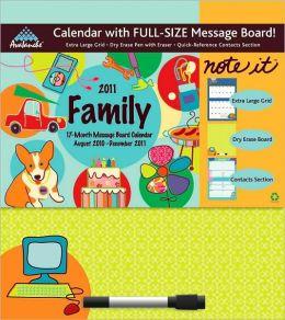 2011 Family Note-It Message Board Wall Calendar