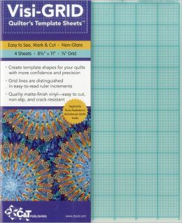 Visi-GRID Quilter's Template Sheets: Easy to See, Mark & Cut - Non-Glare - 4 Sheets - 8 1/2