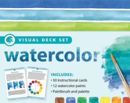 Watercolor [With 50 Instructional Cards and Paint Brush and 12 Watercolor Paints]