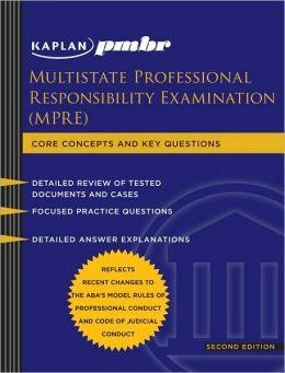 Kaplan PMBR: Multistate Professional Responsibility Exam (MPRE)