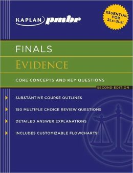 Kaplan PMBR FINALS: Evidence: Core Concepts and Key Questions