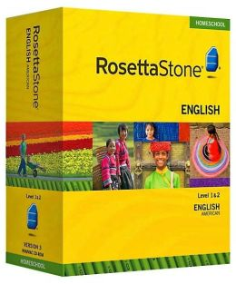 Rosetta Stone Homeschool Version 3 English (US) Level 1 & 2 Set: with Audio Companion, Parent Administrative Tools & Headset with Microphone