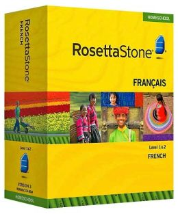 Rosetta Stone Homeschool Version 3 French Level 1 & 2 Set: with Audio Companion, Parent Administrative Tools & Headset with Microphone