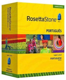 Rosetta Stone Homeschool Version 3 Portuguese (Brazilian) Level 1, 2 & 3 Set: with Audio Companion, Parent Administrative Tools & Headset with Microphone