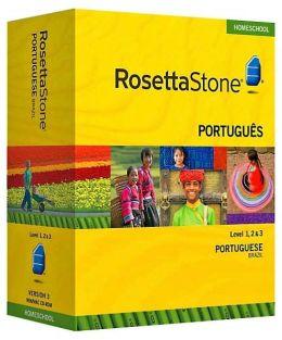 Rosetta Stone Homeschool Version 3 Portuguese (Brazilian) Level 1, 2 & 3 Set: with Audio Companion, Parent Administrative Tools & Headset with Microphone