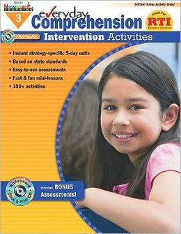 Everyday Comprehension Intervention Activities Grade 3 w/CD