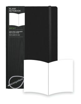 Ecosystem 100% Recycled Flexi Blank Onyx Journal (5.25''x8.25'')